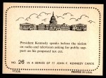 1964 Topps JFK #26   JFK To The Nation On Radio & TV Back Thumbnail