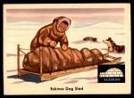1959 Fleer Indian #80   Eskimo dog sled Front Thumbnail