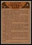 1974 Topps  Checklist   Oakland Raiders Team Back Thumbnail