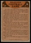 1974 Topps  Checklist   Dallas Cowboys Team Back Thumbnail