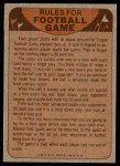 1974 Topps  Checklist   Cleveland Browns Team Back Thumbnail
