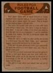 1974 Topps  Checklist   Cincinnati Bengals Team Back Thumbnail