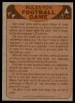 1974 Topps  Checklist   Atlanta Falcons Team Back Thumbnail