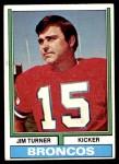 1974 Topps #406  Jim Turner      Front Thumbnail