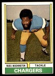 1974 Topps #416  Russ Washington  Front Thumbnail