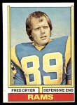 1974 Topps #471  Fred Dryer  Front Thumbnail