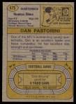 1974 Topps #475  Dan Pastorini  Back Thumbnail