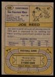1974 Topps #488  Joe Reed  Back Thumbnail