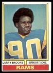 1974 Topps #493  Larry Brooks  Front Thumbnail