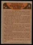1974 Topps  Checklist   New York Giants Team Back Thumbnail