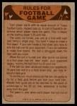1974 Topps  Checklist   Los Angeles Rams Team Back Thumbnail