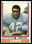 1974 Topps #412  Altie Taylor  Front Thumbnail