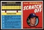 1971 Topps Scratch-Offs  Claude Osteen  Front Thumbnail
