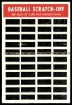 1970 Topps Scratch-Offs  Claude Osteen    Back Thumbnail