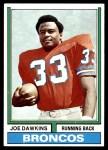 1974 Topps #269  Joe Dawkins  Front Thumbnail