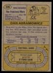 1974 Topps #320  Dan Abramowicz  Back Thumbnail