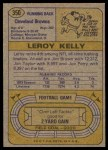1974 Topps #350  Leroy Kelly  Back Thumbnail