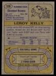 1974 Topps #350  Leroy Kelly  Back Thumbnail