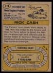 1974 Topps #274  Rick Cash  Back Thumbnail