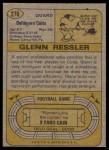 1974 Topps #276  Glenn Ressler  Back Thumbnail