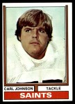 1974 Topps #308  Carl Johnson  Front Thumbnail