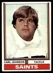 1974 Topps #308  Carl Johnson  Front Thumbnail