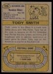 1974 Topps #336  Tody Smith  Back Thumbnail
