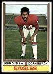 1974 Topps #354  John Outlaw  Front Thumbnail