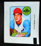 1969 Topps Decals  Sam McDowell  Front Thumbnail