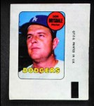 1969 Topps Decals  Don Drysdale  Front Thumbnail