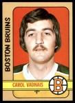 1972 Topps #85  Carol Vadnais  Front Thumbnail