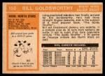1972 O-Pee-Chee #159  Bill Goldsworthy  Back Thumbnail
