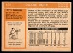 1972 O-Pee-Chee #154  Duane Rupp  Back Thumbnail
