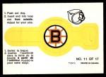 1973 O-Pee-Chee Rings #11   Bruins Front Thumbnail