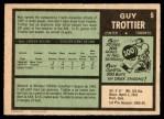 1971 O-Pee-Chee #5  Guy Trottier  Back Thumbnail