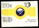 1973 O-Pee-Chee Rings #15   Sabres Front Thumbnail