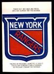 1973 O-Pee-Chee Team Logos #12   Rangers Logo Front Thumbnail