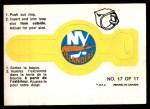 1973 O-Pee-Chee Rings #17   Islanders Front Thumbnail
