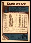 1977 O-Pee-Chee #224  Dunc Wilson  Back Thumbnail