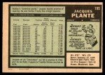 1971 O-Pee-Chee #195  Jacques Plante  Back Thumbnail