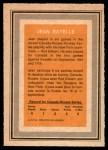 1972 O-Pee-Chee Team Canada #23  Jean Ratelle  Back Thumbnail