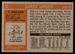 1972 Topps #35  Garry Unger  Back Thumbnail