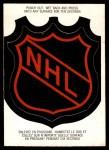 1973 O-Pee-Chee Team Logos #1   NHL Logo Front Thumbnail
