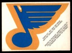 1973 O-Pee-Chee Team Logos #15   Blues Logo Front Thumbnail