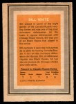1972 O-Pee-Chee Team Canada #28  Bill White  Back Thumbnail
