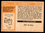 1972 O-Pee-Chee #242  Ted McAneeley  Back Thumbnail