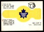 1973 O-Pee-Chee Rings #3   Maple Leafs Front Thumbnail