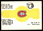 1973 O-Pee-Chee Rings #2   Canadians Front Thumbnail