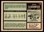 1971 O-Pee-Chee #136  Serge Lajeunesse  Back Thumbnail