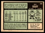 1971 O-Pee-Chee #226  Brit Selby  Back Thumbnail